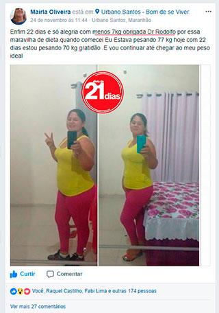 Depoimento Dieta de 21 Dias